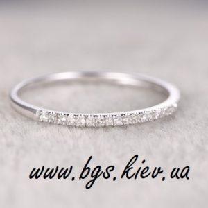 Золотое кольцо с бриллиантами, Золотое кольцо с бриллиантами Queen в белом золоте