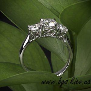 Золотое женское кольцо на подарок