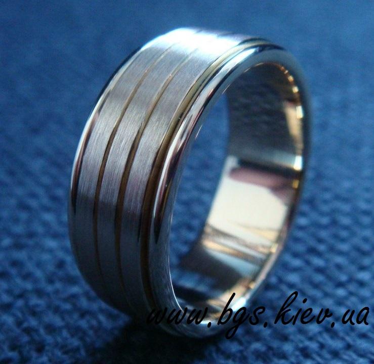 золотое мужское кольцо «Стиль»