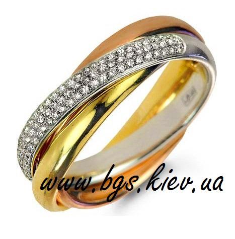 a5b8d248de2c Женское кольцо Cartier Trinity с камнями. Кольцо тринити с камнями ...