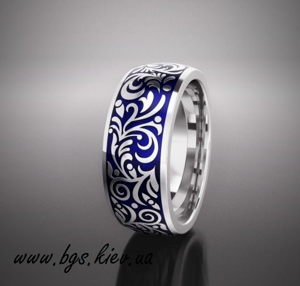 Обручальные кольца с эмалью «big forest»