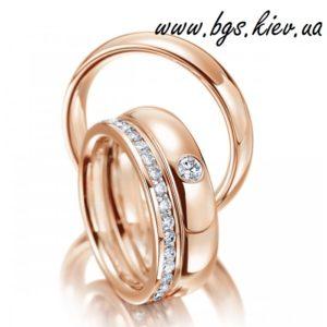 Обручальные кольца из желтого золота 585 пробы
