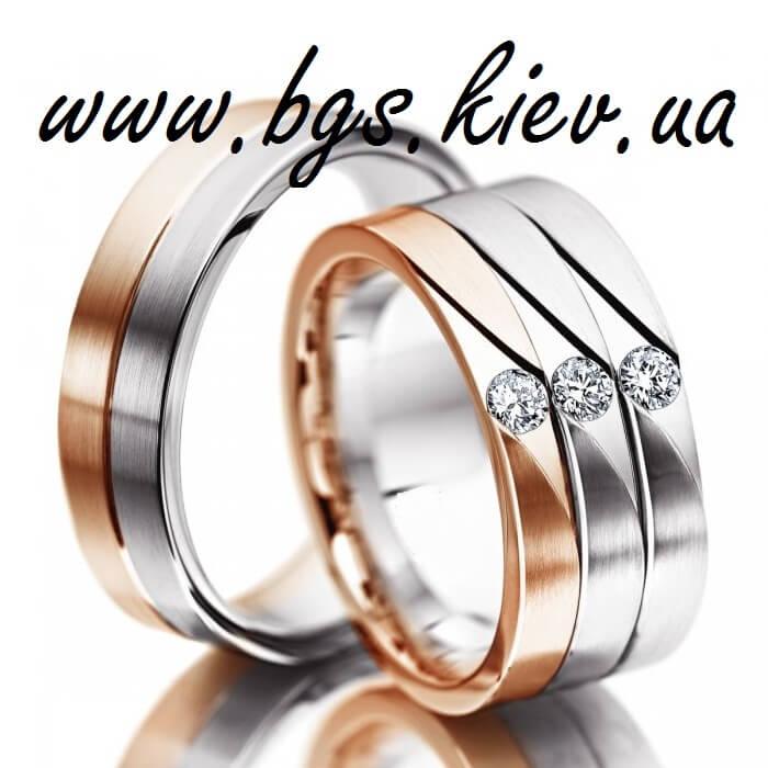 Широкие кольца из комбинированного золота