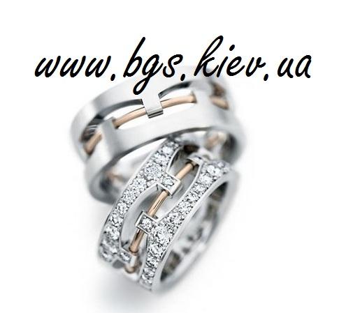 Кольца свадебные подвижные из двух половинок