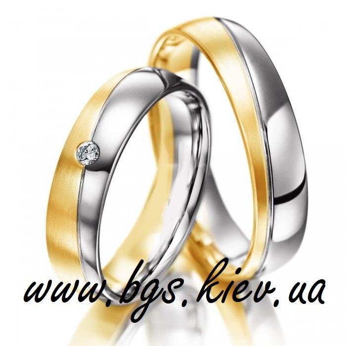 Пара свадебных колец из золота
