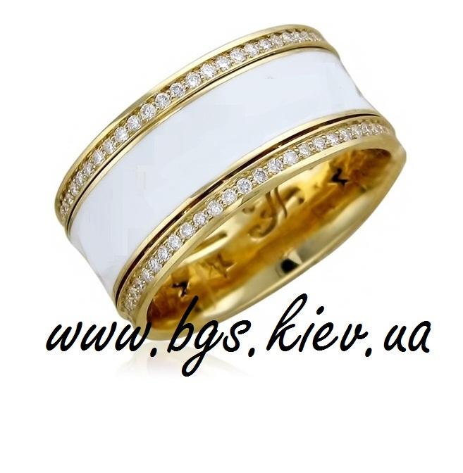 Женское кольцо с эмалью «Волшебный сад»