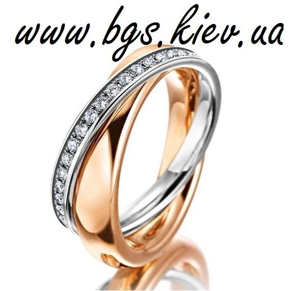 Парное женское обручальное кольцо «Две судьбы&#187