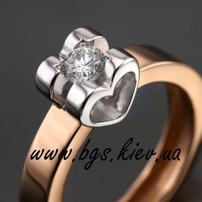 Кольцо Chopard из комбинированного золота с бриллиантом