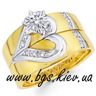Парные обручальные кольца «Половинки»