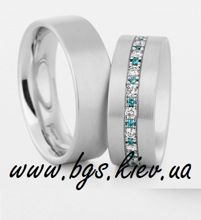Обручальные кольца с сапфирами «Яркий акцент»