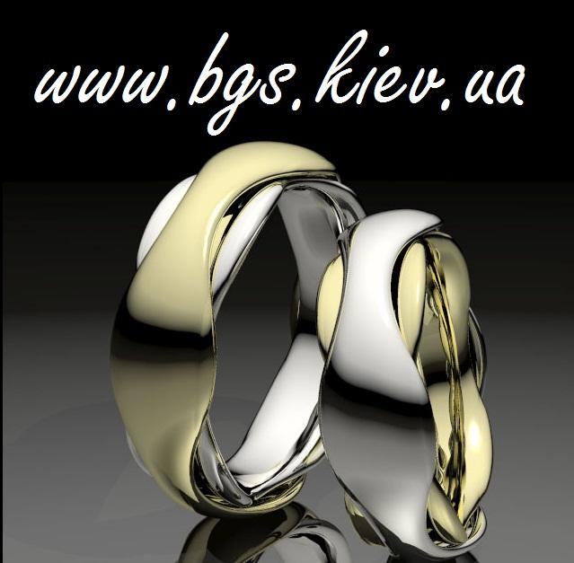 f5617587b366 Обручальные кольца два цвета золота без камней «Линии любви»