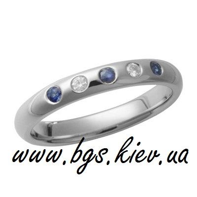 Золотое кольцо «Сапфир»
