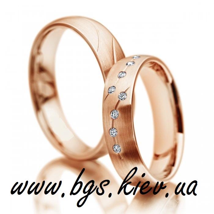 Золотые свадебные кольца «Жемчужная нить»