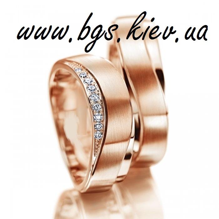 Свадебные кольца с камнями Swarovski