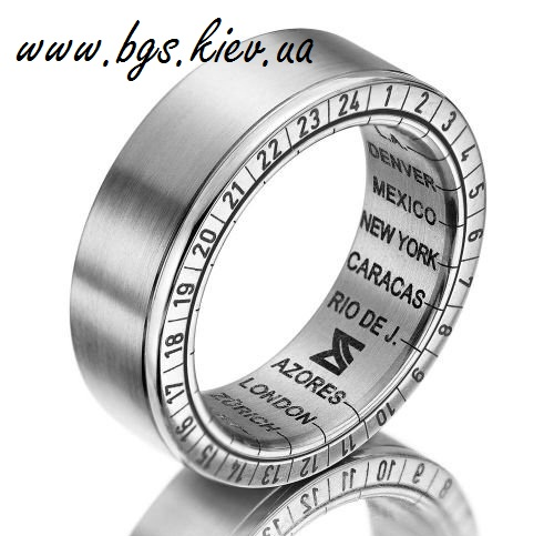 Мужское кольцо «local time»