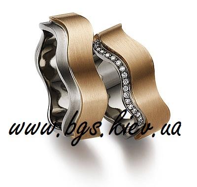 Обручальные кольца «Золотые волны»