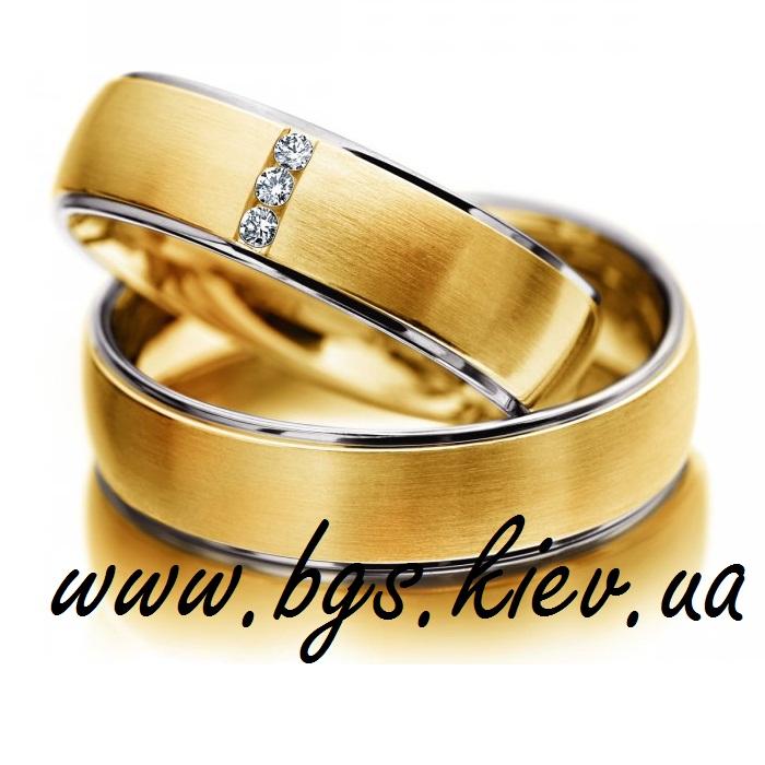 Комплект обручальных колец из золота «Тирамису»