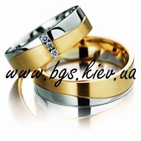 Обручальные кольца с цирконием «Одиссея»