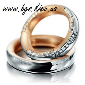 Обручальные кольца с драгоценными камнями «Эксклюзив»