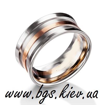 Мужское обручальное кольцо широкое