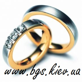 Обручальные кольца из розового и белом золота