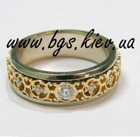 Винтажное обручальное кольцо «Ажур»