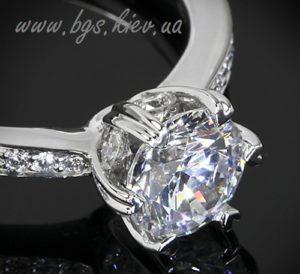 Помолвочное кольцо золота «Best Gold Service». Помолвочное кольцо белое золота под заказ в ювелирной мастерской Best Gold Service