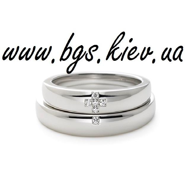 Венчальные кольца из белого золота