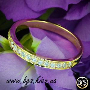 Свадебное кольцо с бриллиантами