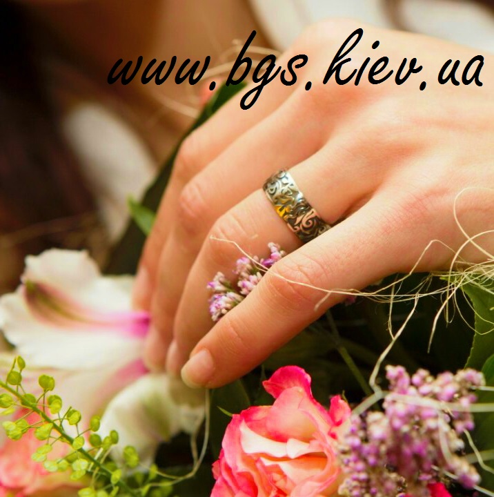 Обручальные кольца с орнаментом из белого золота