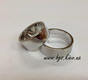 кольца обручальные широкие