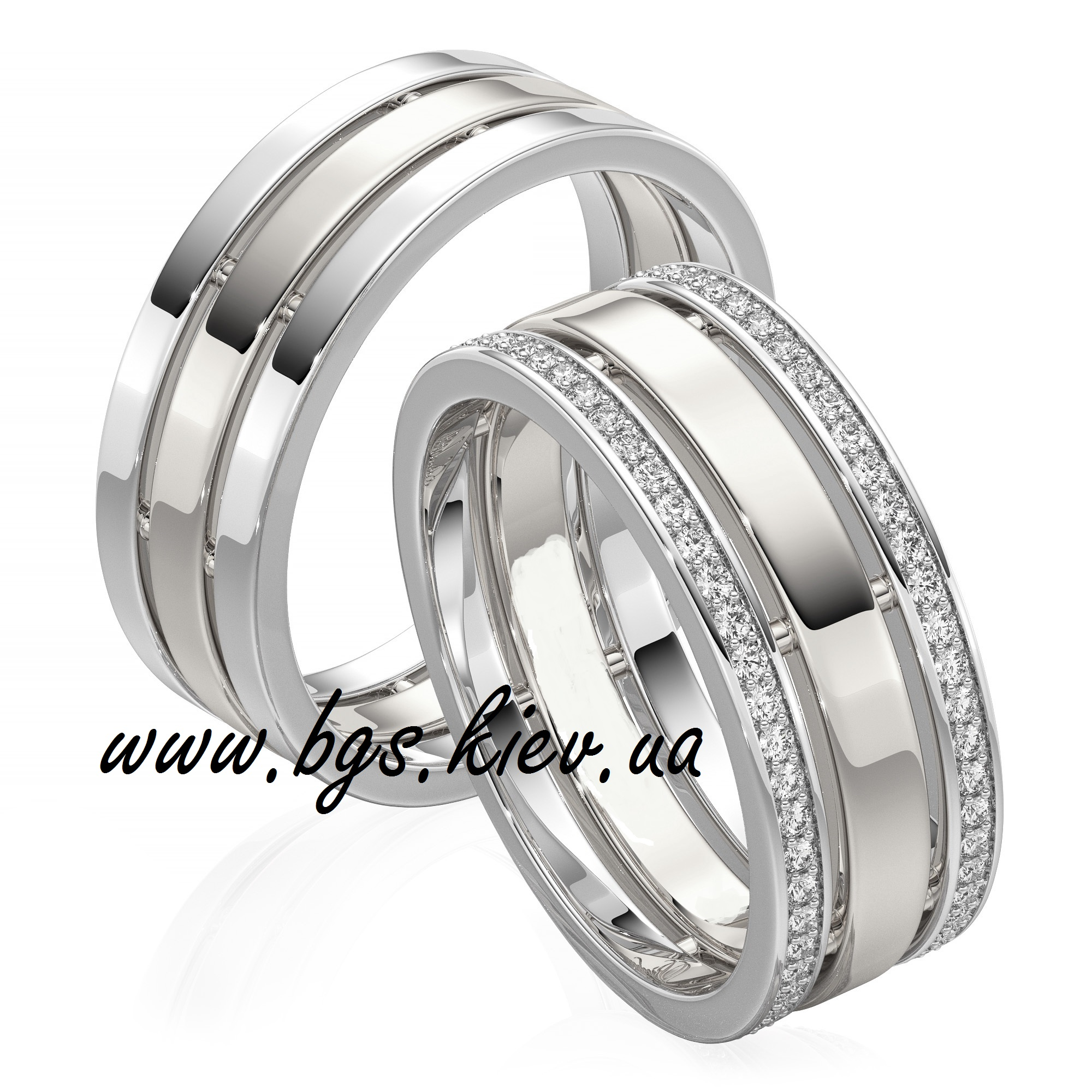 интересные обручальные кольца с бриллиантами