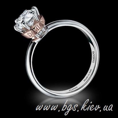 Помолвочное кольцо Damiani в двух цветах золота