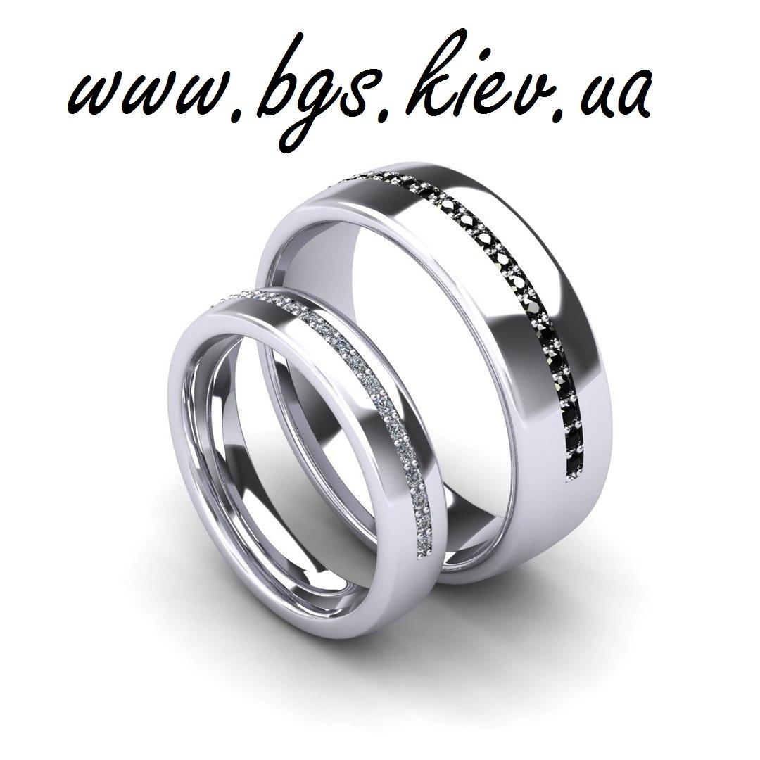 Кольца с черными и белыми бриллиантами Swarovski