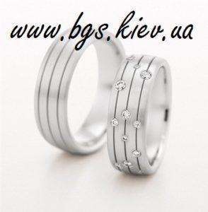 Комплект обручальные кольца из белого золота