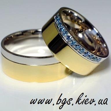 Обручальные кольца c камнями