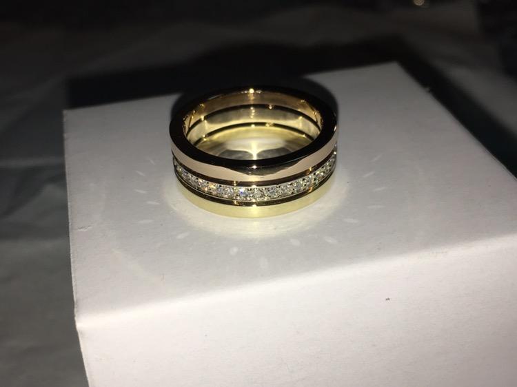 Свадебные кольца из комбинированного золота три цвета золота
