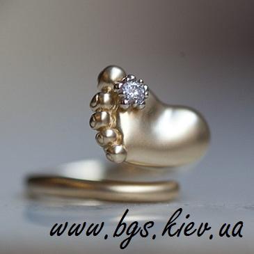 Кольцо «Ножка младенца»