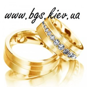 Широкие обручальные кольца из белого золота «Роскошь» с крупными камнями