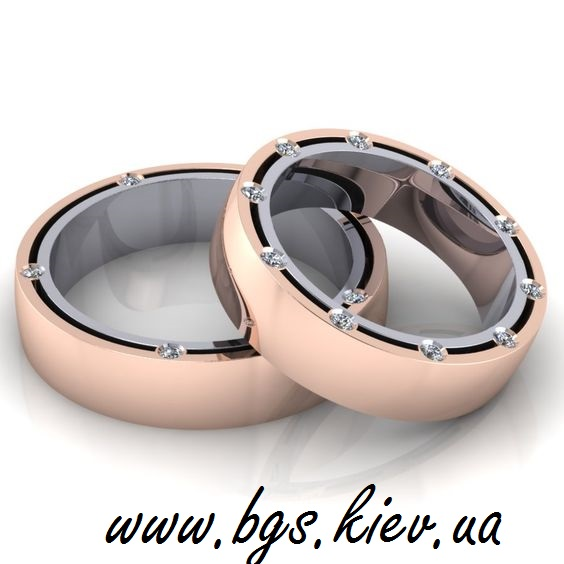 Обручальные кольца Damiani в комбинированном золоте