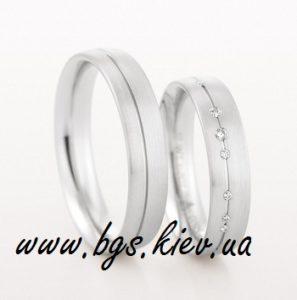 Золотое кольцо с белым золотом Best Gold Service