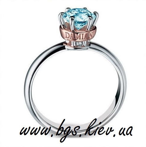 Помолвочное кольцо в двух цветах золота