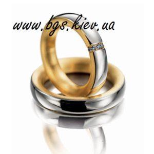 Обручальные кольца из комбинированного золота «Монако» традиционные - ширина 4 мм.