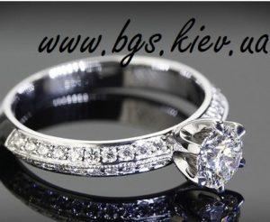 Помолвочное кольцо с фианитом из белого золота. Золотое кольцо на заказ «Винтаж» Best Gold Service. Заказать со своего золота в каталоге в Киеве