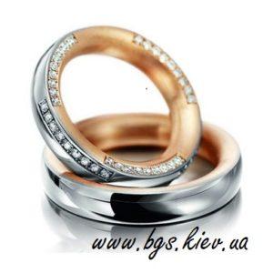 Обручальные кольца с драгоценными камнями