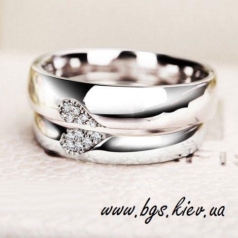 Обручальные кольца «Лебединая пара»