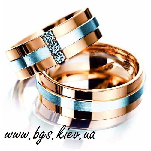 Обручальные кольца два цвета золота