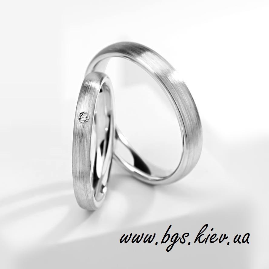 Парные обручальные кольца «Кристалл»