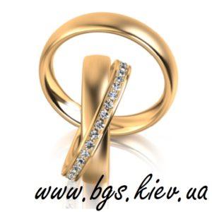 Женское кольцо с бриллиантами двойное