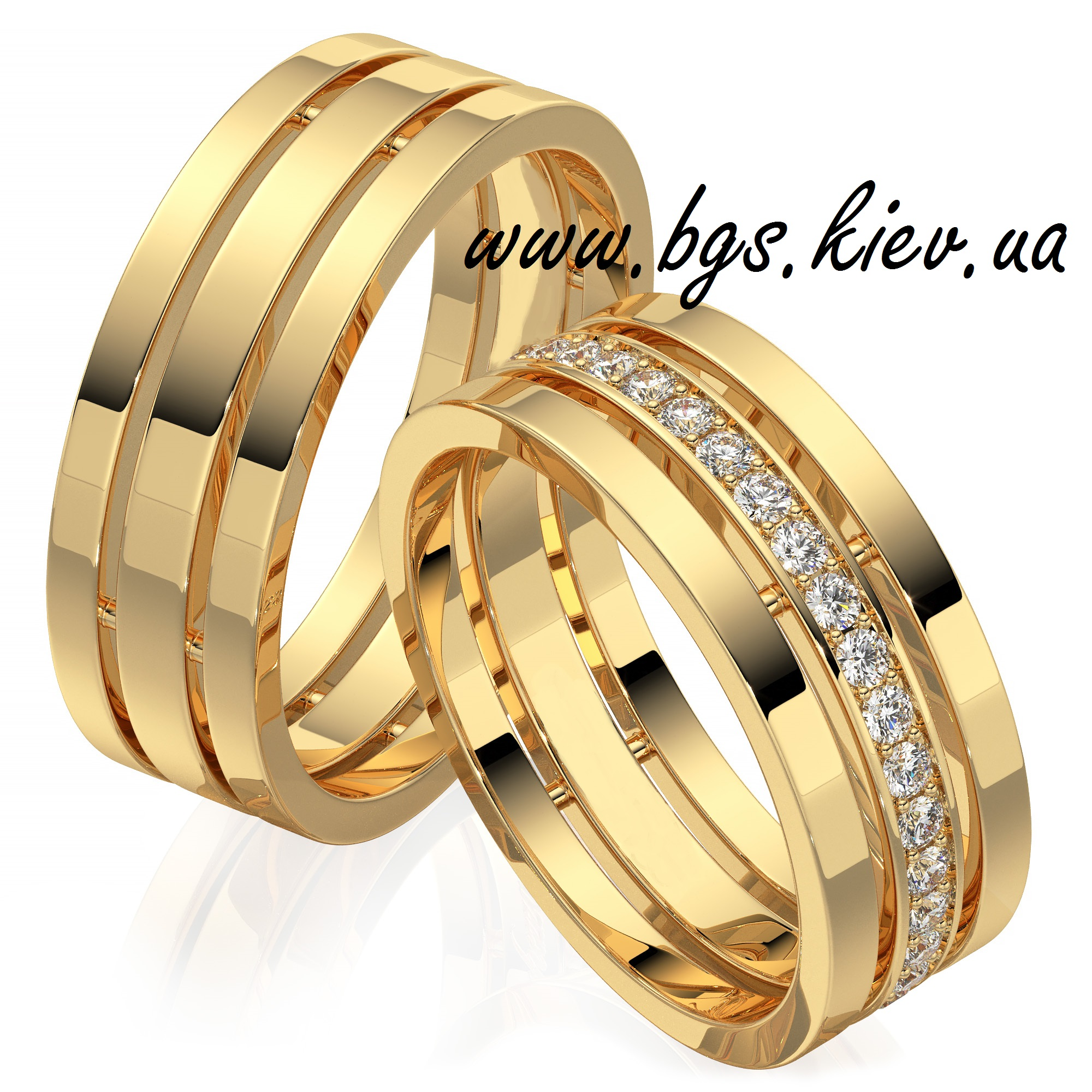 f973d39d5e0c Обручальные кольца из желтого золота - классические золотые женские ...